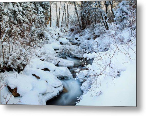 Winter Flow Metal Print by Darryl Wilkinson