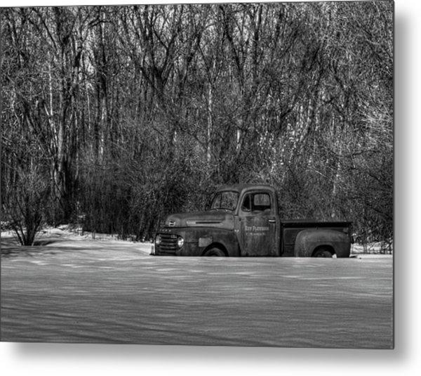 Winter Ford Truck 1 Metal Print