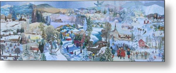 Winter Fun - Sold Metal Print by Judith Espinoza