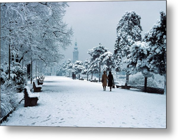 Winter In Belgrade Metal Print