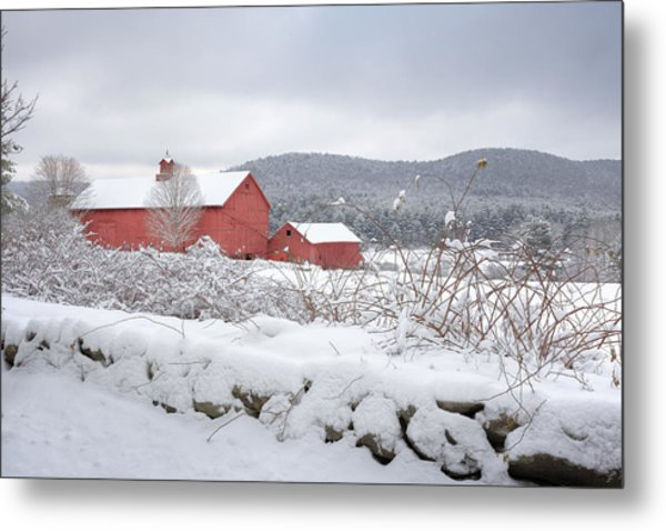 Winter In Connecticut Metal Print
