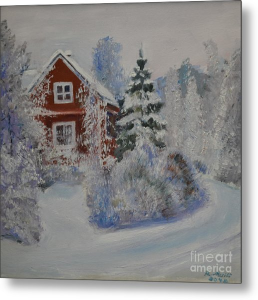 Winter In Finland Metal Print