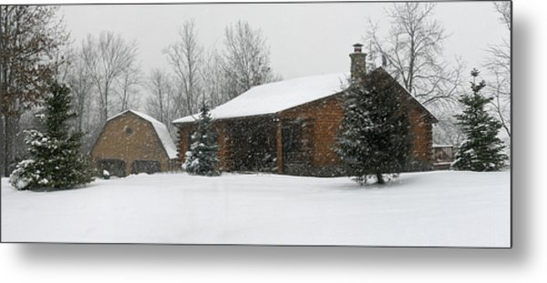 Winter In Galena Metal Print by Gary Lobdell