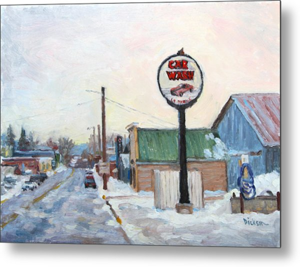 Winter In La Farge Metal Print