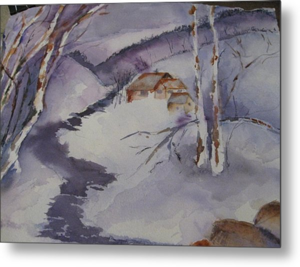 Winter In Montana Metal Print