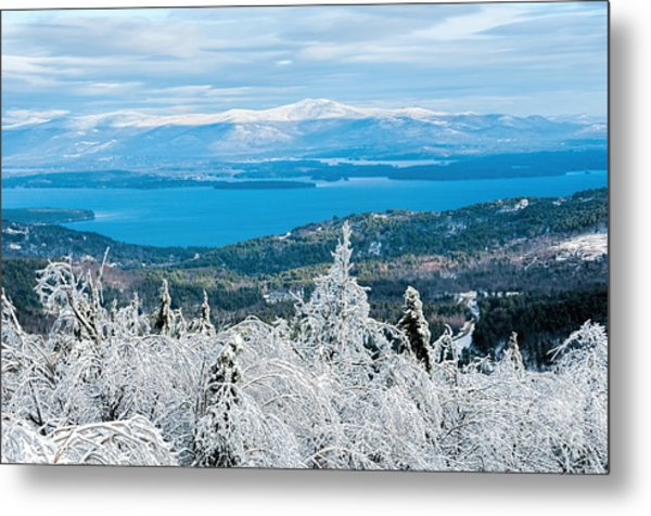 Winter In Nh Metal Print