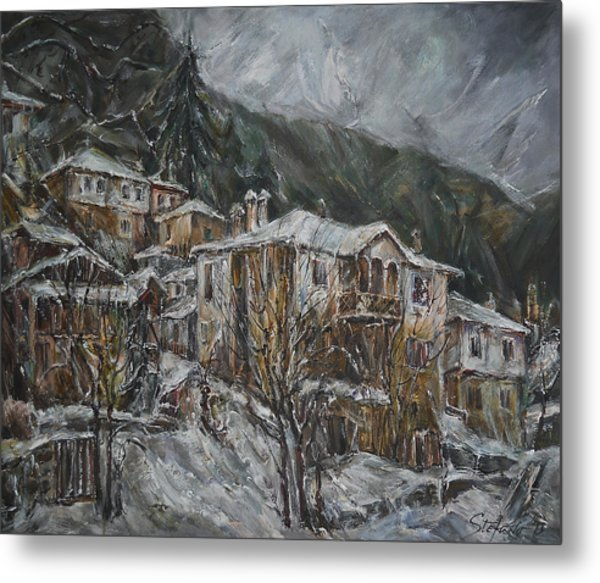 Winter In Shiroka Luka Metal Print