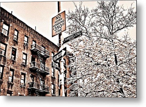 Winter In The Bronx Metal Print