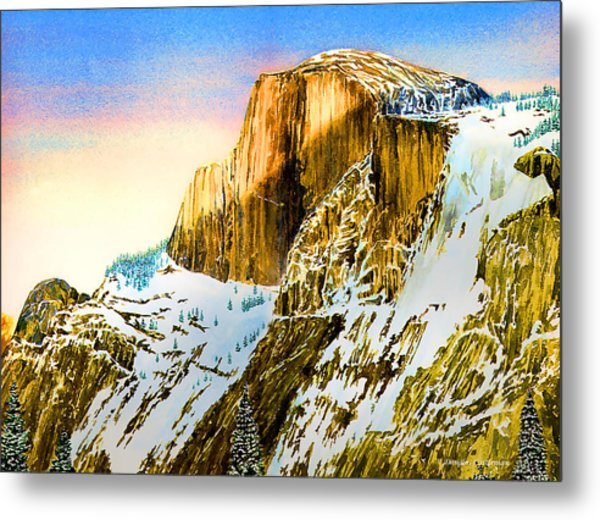 Winter Last Light Metal Print