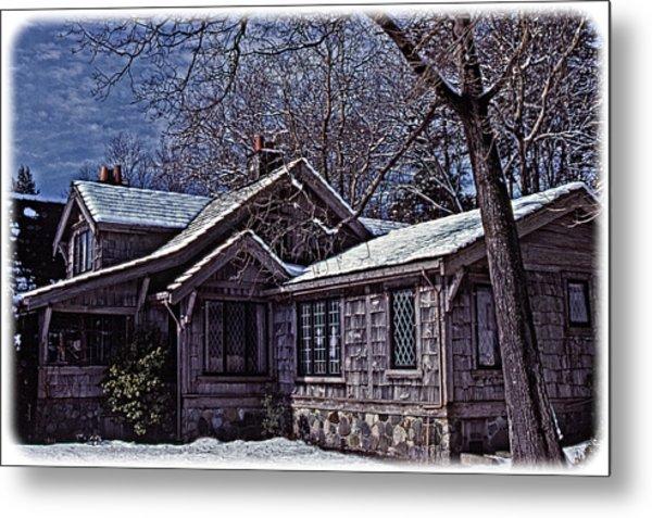 Winter Lodge Metal Print