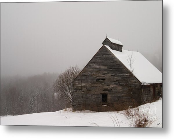 Winter Maine Barn Metal Print