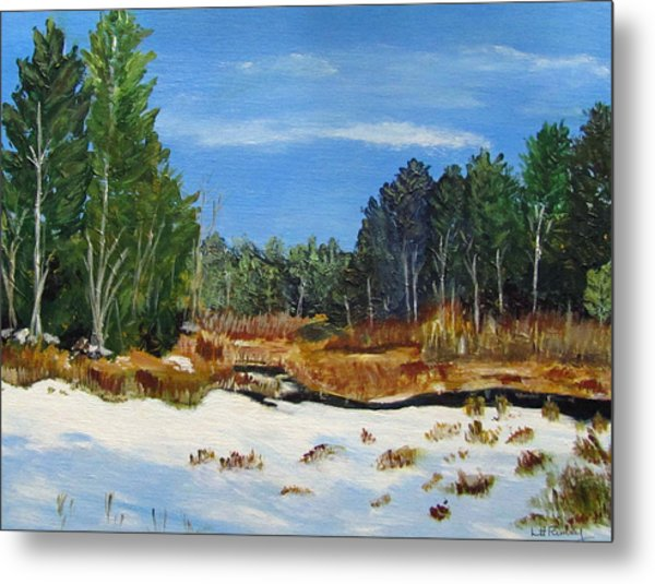 Winter Marsh In Hooksett Metal Print