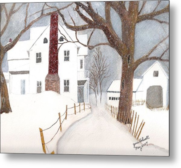 Winter Morning At The Big White House Metal Print
