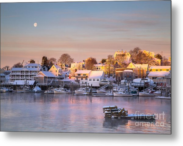 Winter Morning In Boothbay Harbor Metal Print