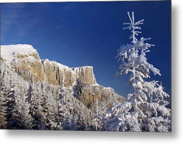 Winter Mountain Landscape Metal Print by Ioan Panaite