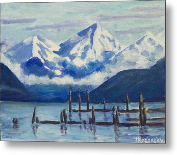 Winter Mountains Alaska Metal Print
