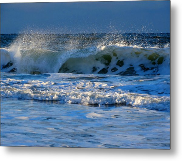 Winter Ocean At Nauset Light Beach Metal Print