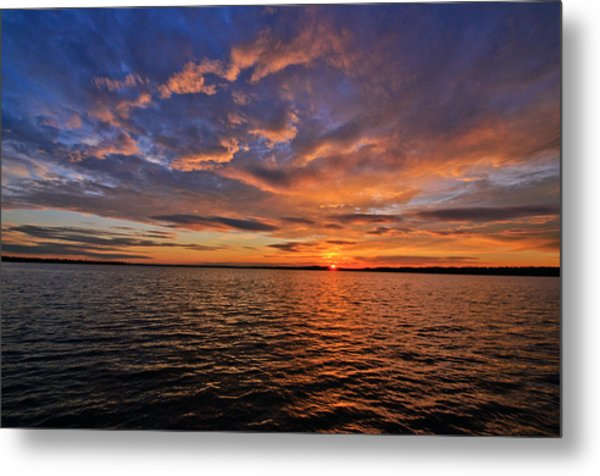 Winter On Lake Houston Metal Print