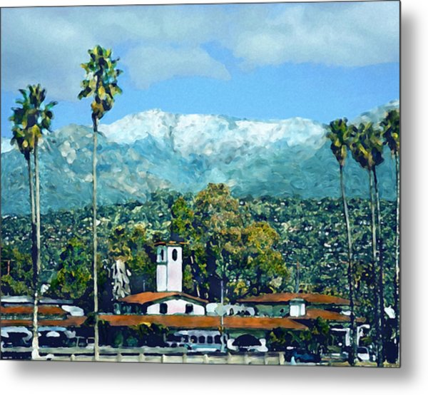 Winter Paradise Santa Barbara Metal Print