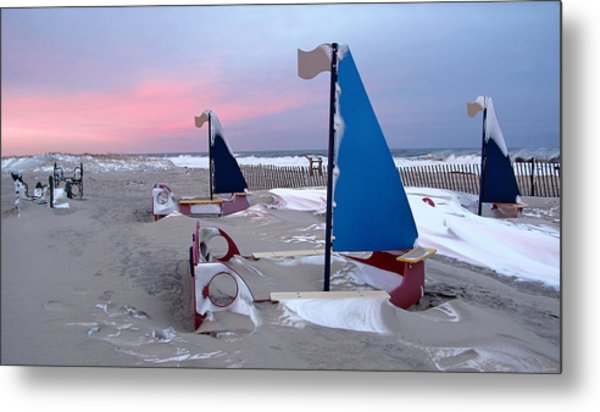 Winter Playland Metal Print