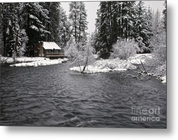 Winter Postcard Metal Print