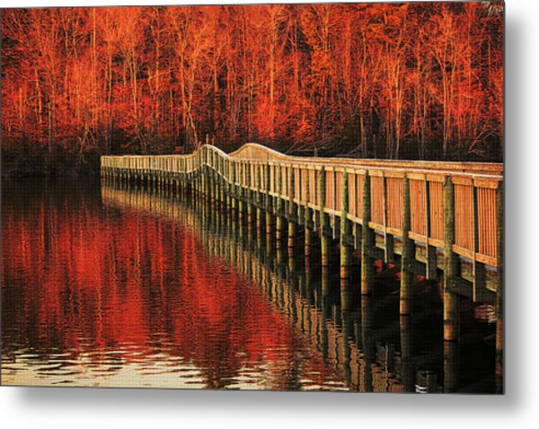 Winter Reds Metal Print