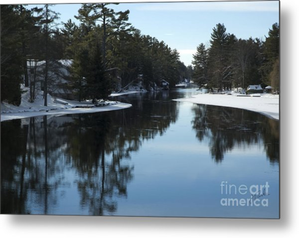 Winter River II Metal Print