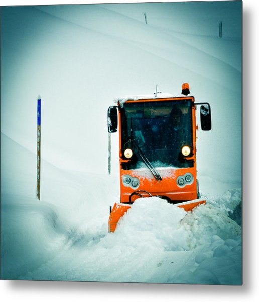 Winter Road Clearance Metal Print