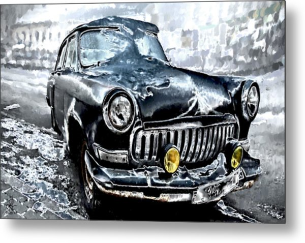 Winter Road Warrior Metal Print
