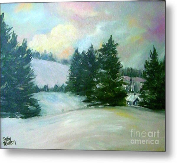 Winter Sang In The Chimneys Metal Print