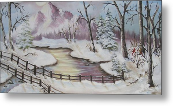 Winter Scene Metal Print by Joni McPherson