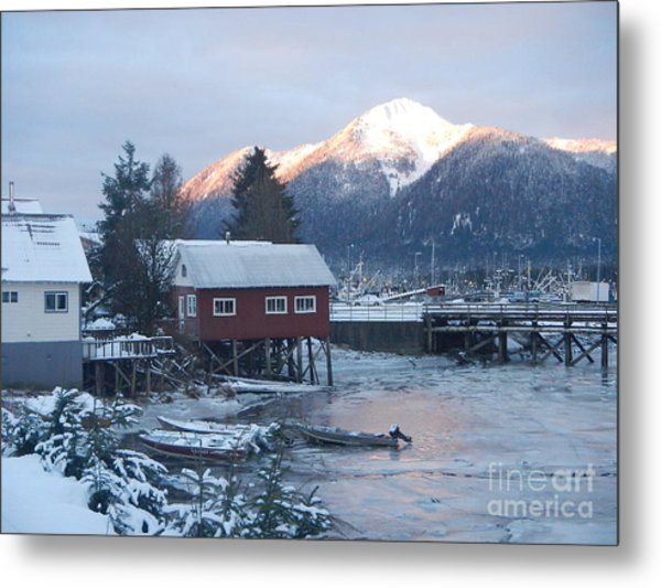 Winter Scenery Metal Print