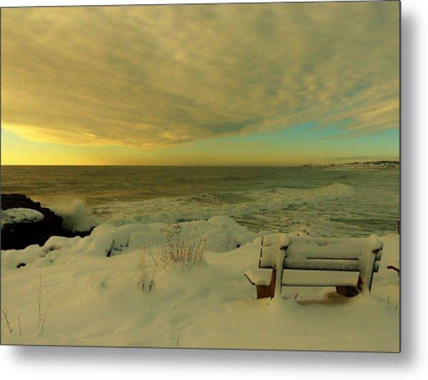 Winter Seascape Metal Print