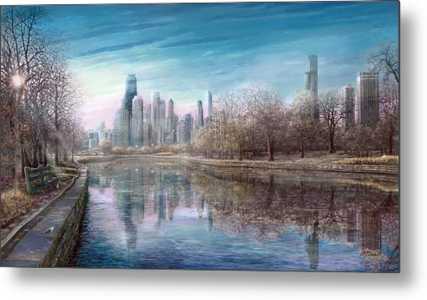 Winter Serenity Frost Metal Print