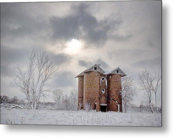 Winter Silo Metal Print by Karen Varnas