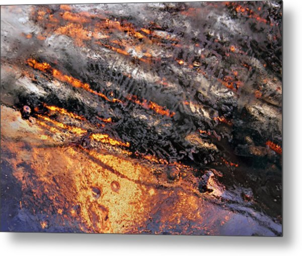 Winter Steam Metal Print