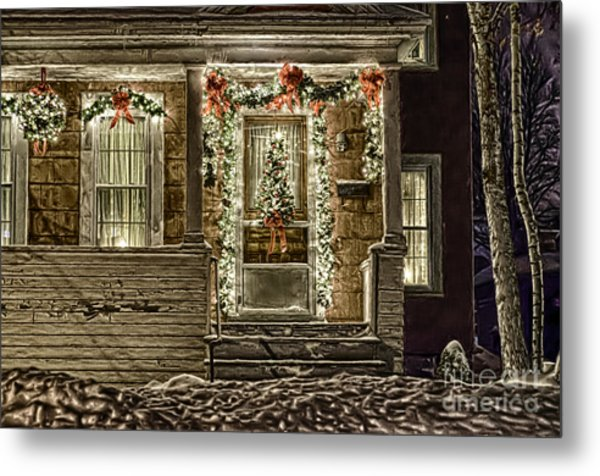 Winter Storm Collection Iv Metal Print