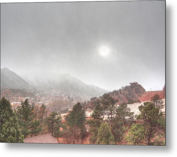 Winter Storm In Summer With Sun Metal Print