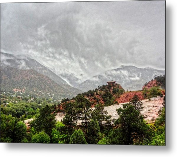 Winter Storm On A Summer Day Metal Print