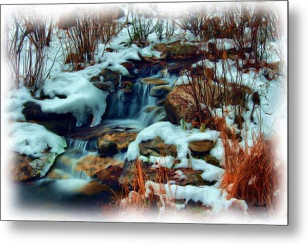 Winter Stream Metal Print
