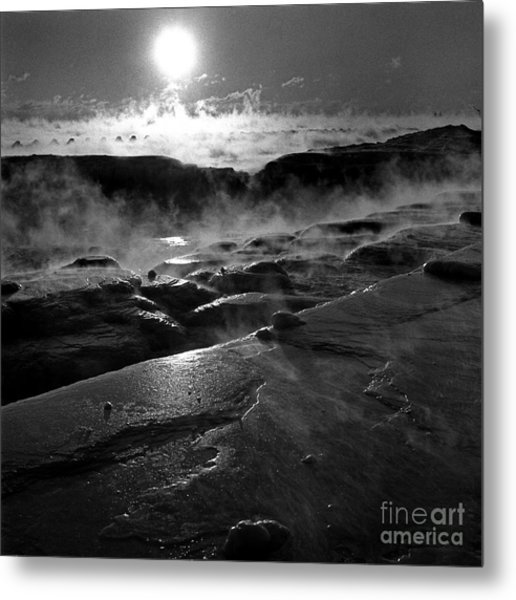 Winter Sunrise Deep Freeze Metal Print