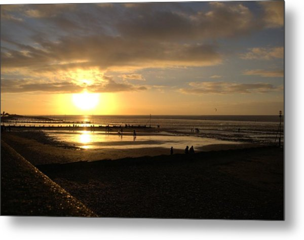 Winter Sunset Metal Print by Dave Woodbridge