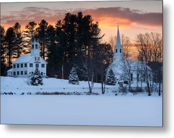 Winter Sunset Metal Print