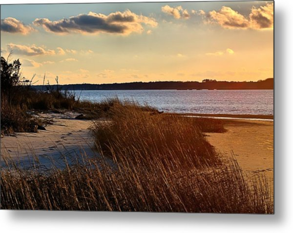 Winter Sunset On The Cape Fear River Metal Print