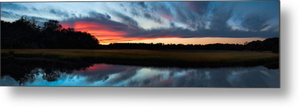 Winter Sunset Over Moultrie Creek Metal Print