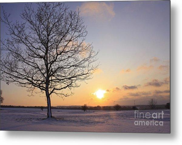 Winter Sunset Uk Metal Print