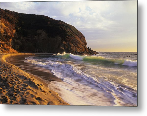 Winter Swells Strands Beach Metal Print
