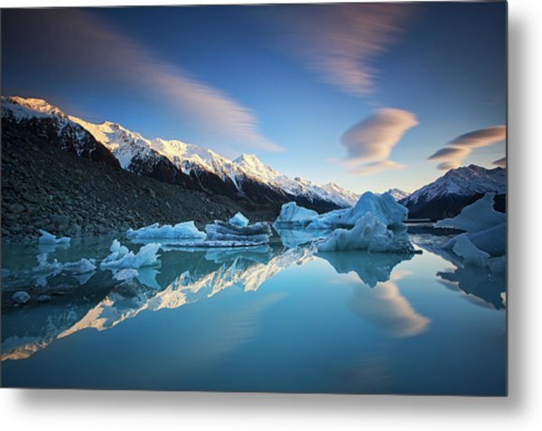 Winter Symmetry Metal Print by Yan Zhang