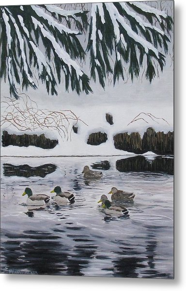 Winter Tranquility Metal Print