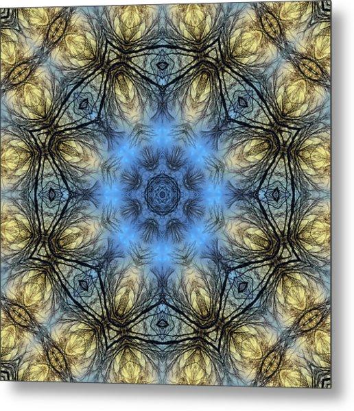 Winter Tree Mandala Metal Print
